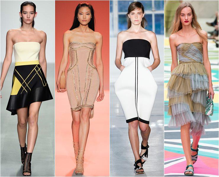 коктейльные платья бюстье весна-лето 2015