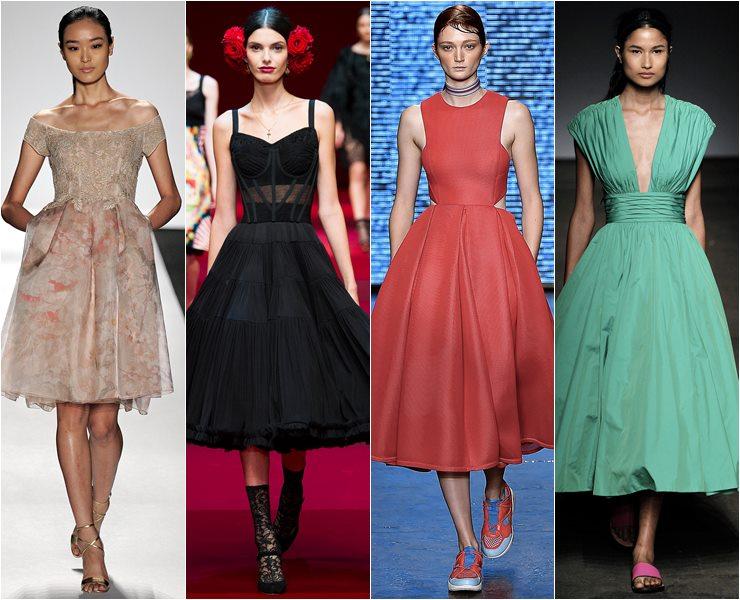 коктейльные платья стиль 50 весна-лето 2015