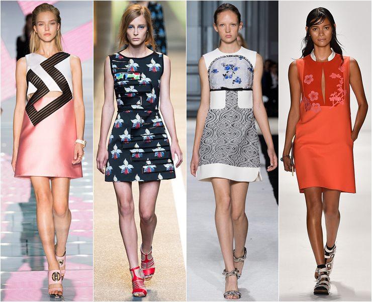 коктейльные платья стиль 60 весна-лето 2015