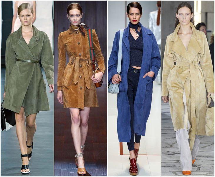 Замшевые пальто весна-лето 2015