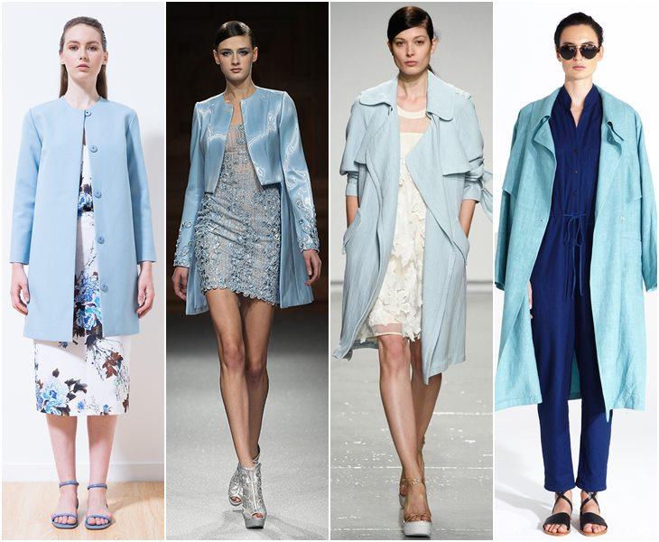 Голубые пальто весна-лето 2015