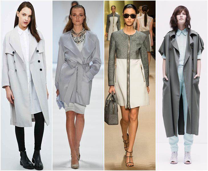Пальто в оттенках серого весна-лето 2015