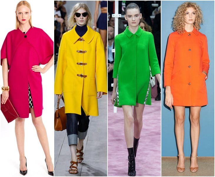 Пальто ярких оттенков весна-лето 2015