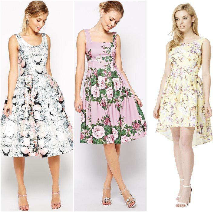 Выпускные платья с цветочным принтом