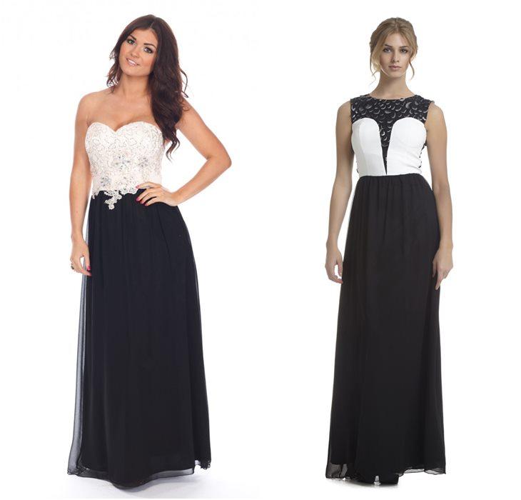 7cd0dff9594 Черно-белые выпускные платья ...