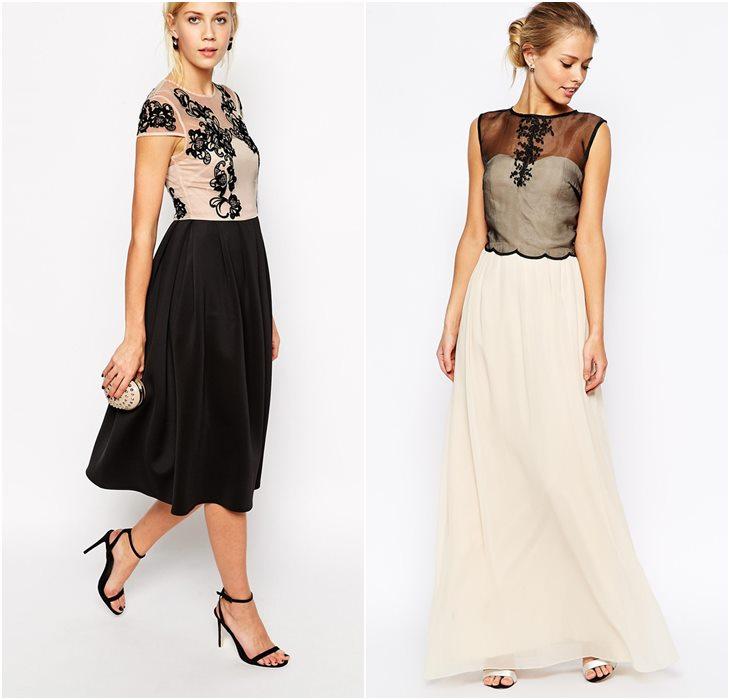 Контраст лифа и юбки