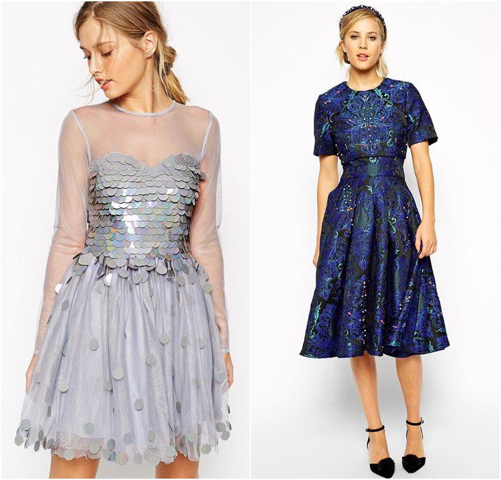 расшитые кристаллами и пайетками выпускные платья