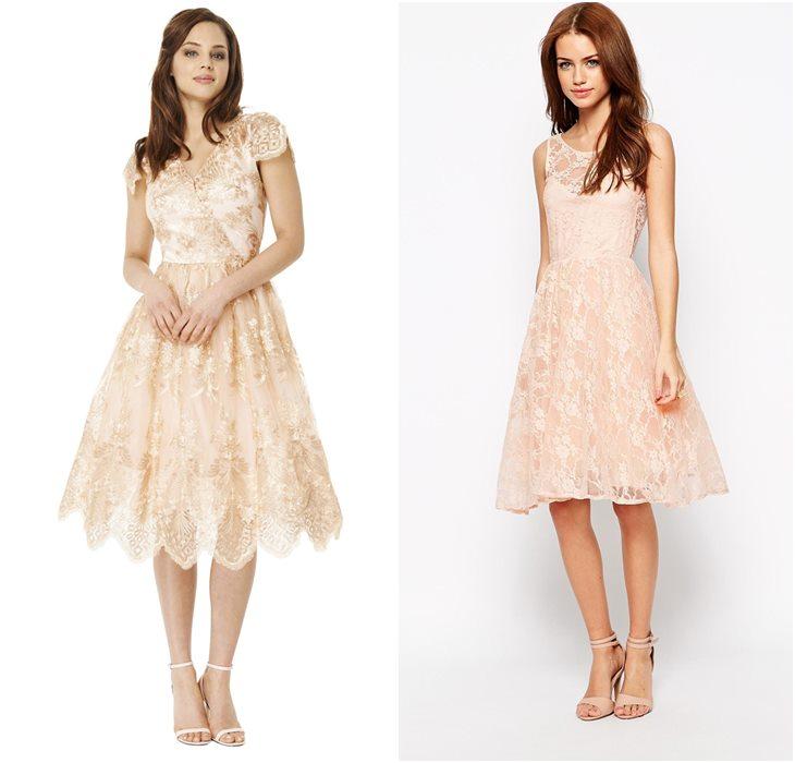 Кружевное платье колокольчик
