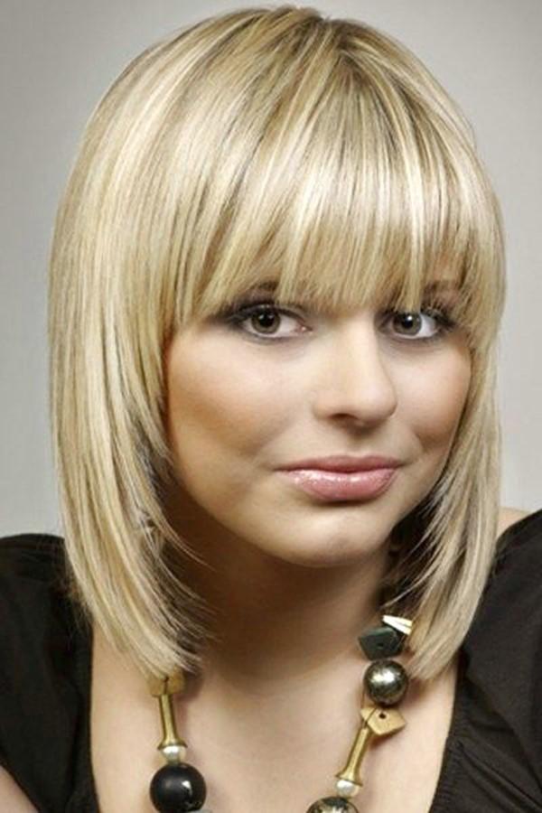 стрижка каре боб на средние волосы для полного лица с пухлыми щеками (11)