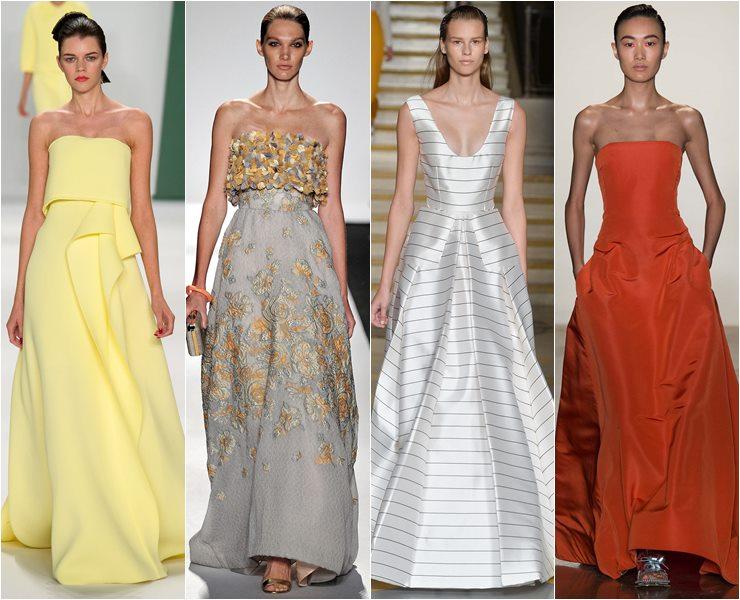 Вечерние платья А-силуэта весна лето 2015