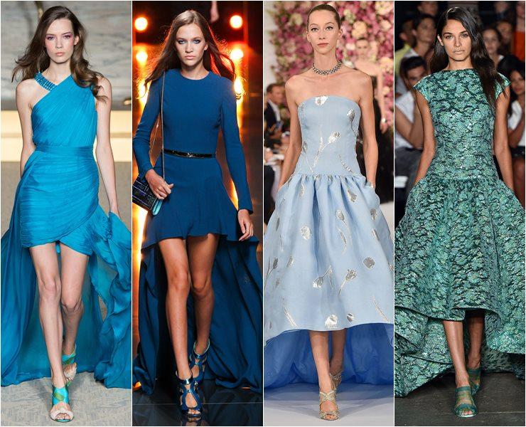 Вечерние платья хай-лоу весна лето 2015