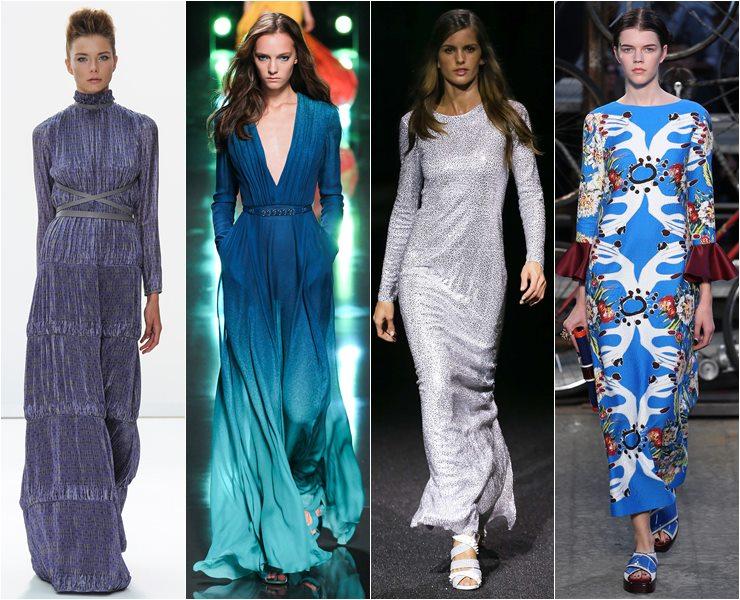 Вечерние платья с длинным рукавом весна лето 2015