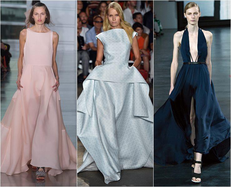 Вечерние платья со шлейфом весна лето 2015
