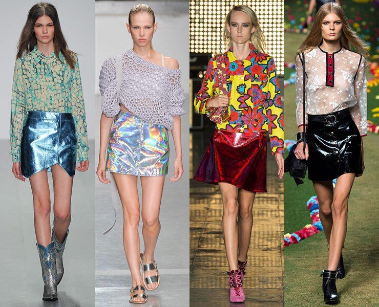 Блестящие юбки весна-лето 2015