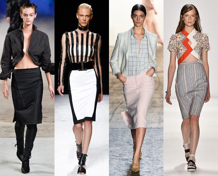 Классические юбки-карандаш весна-лето 2015