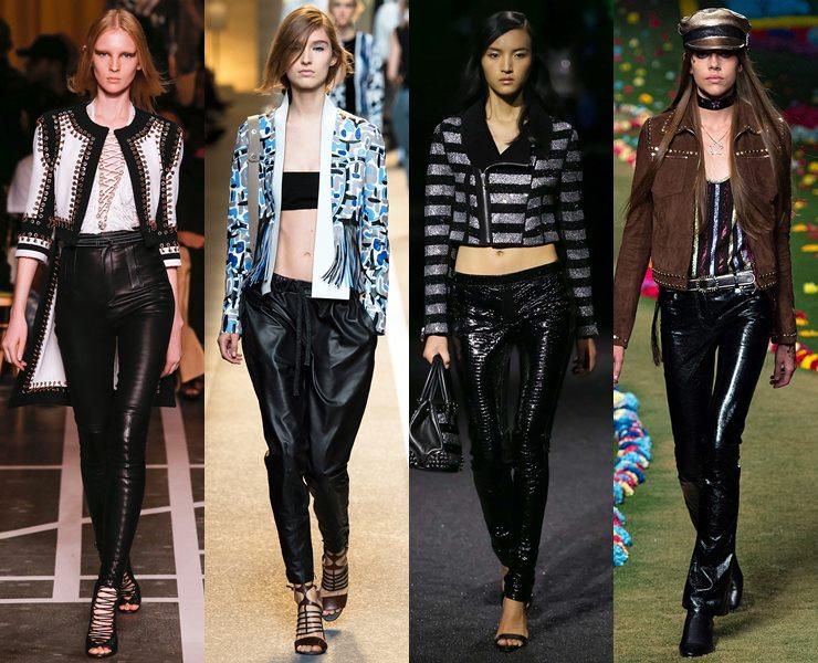 Кожаные брюки весна-лето 2015