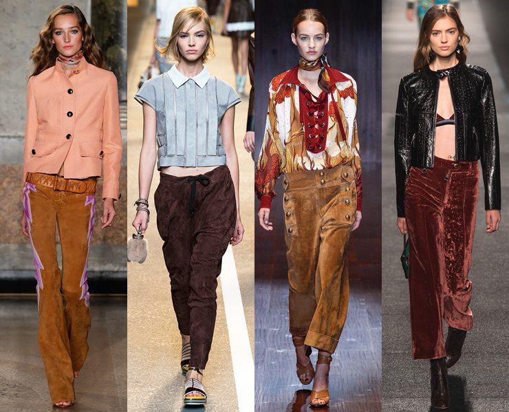 Замшевые брюки весна-лето 2015