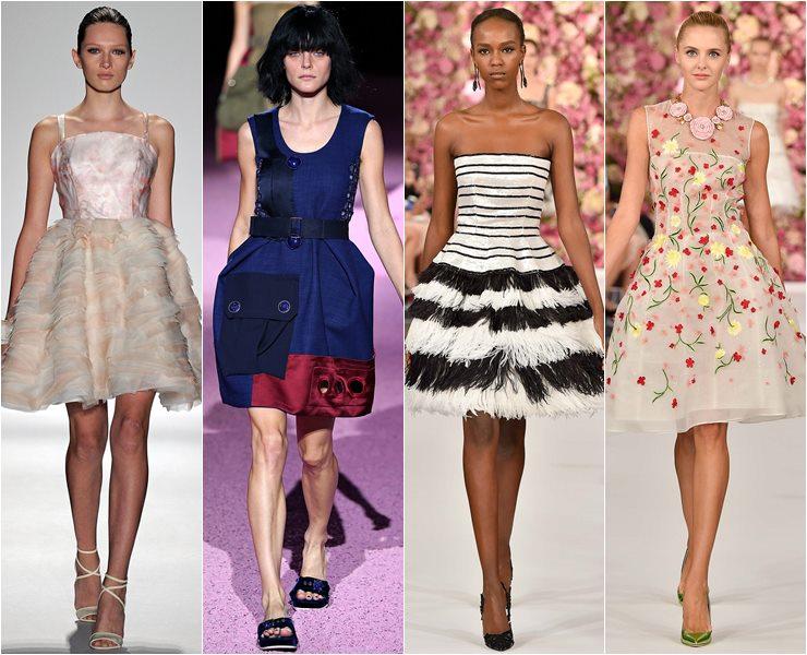 жесткие коктейльные платья весна-лето 2015