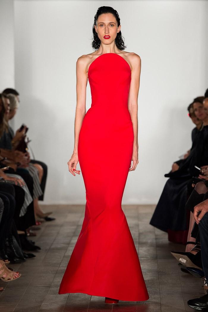 элегантное длинное платье русалка на выпускной 2015