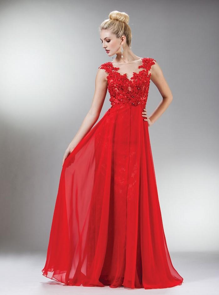 длинное красное платье на выпускной 2015