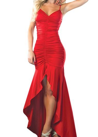 красное платье хай лоу на выпускной 2015