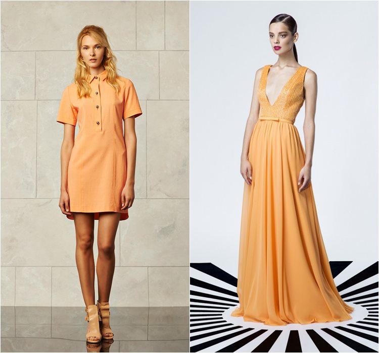 светло оранжевые платья лето 2015