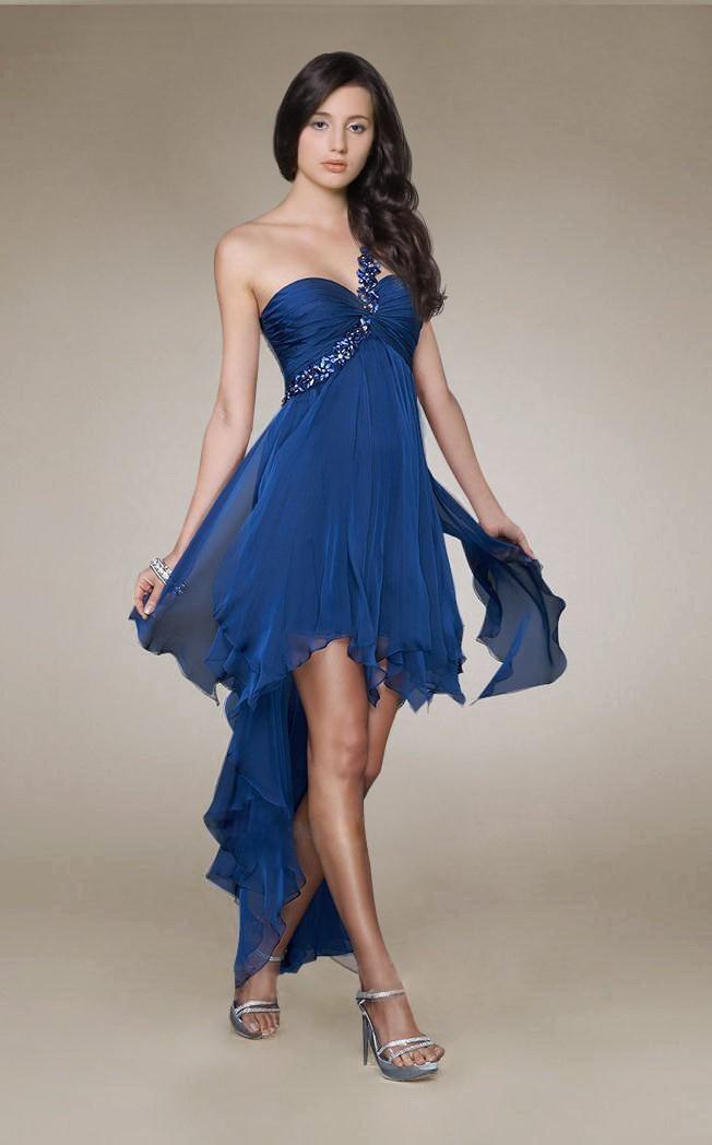 темно-синее платье бюстье хай-лоу на выпускной 2015