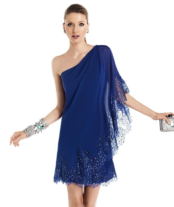 темно-синее платье-туника на выпускной 2015