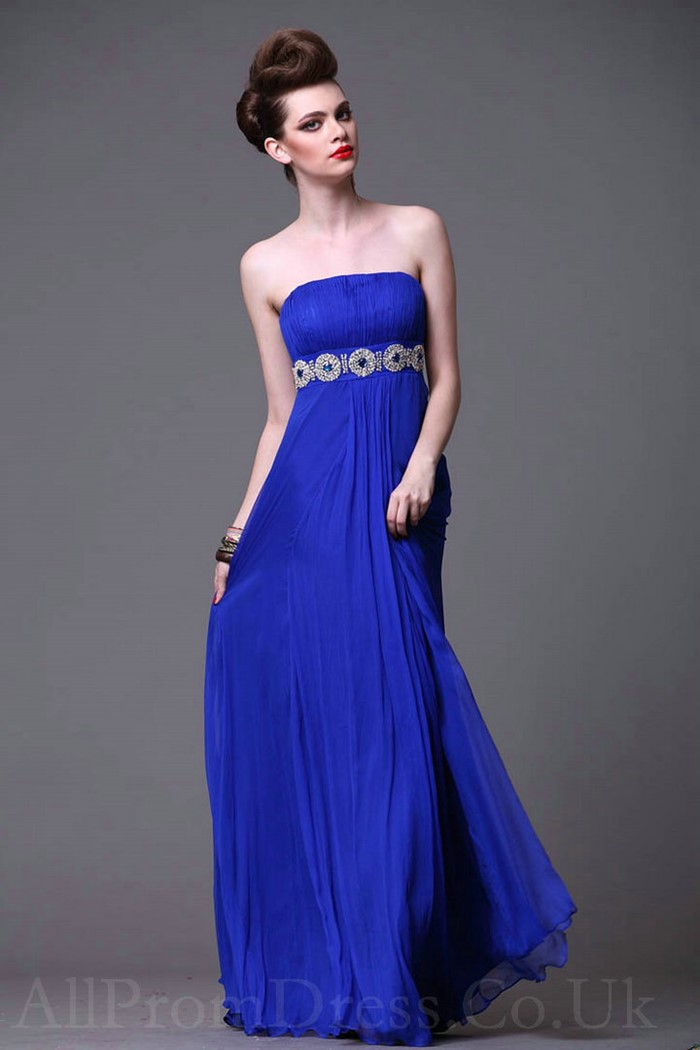 платье королевского синего оттенка на выпускной 2015