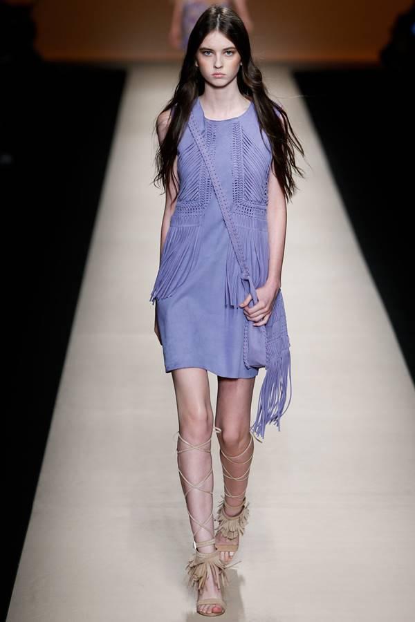 сиреневое платье весна-лето 2015 Alberta Ferretti