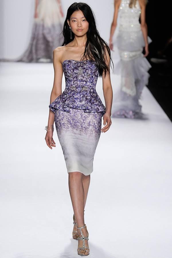 сиреневое платье весна-лето 2015 Badgley Mischka