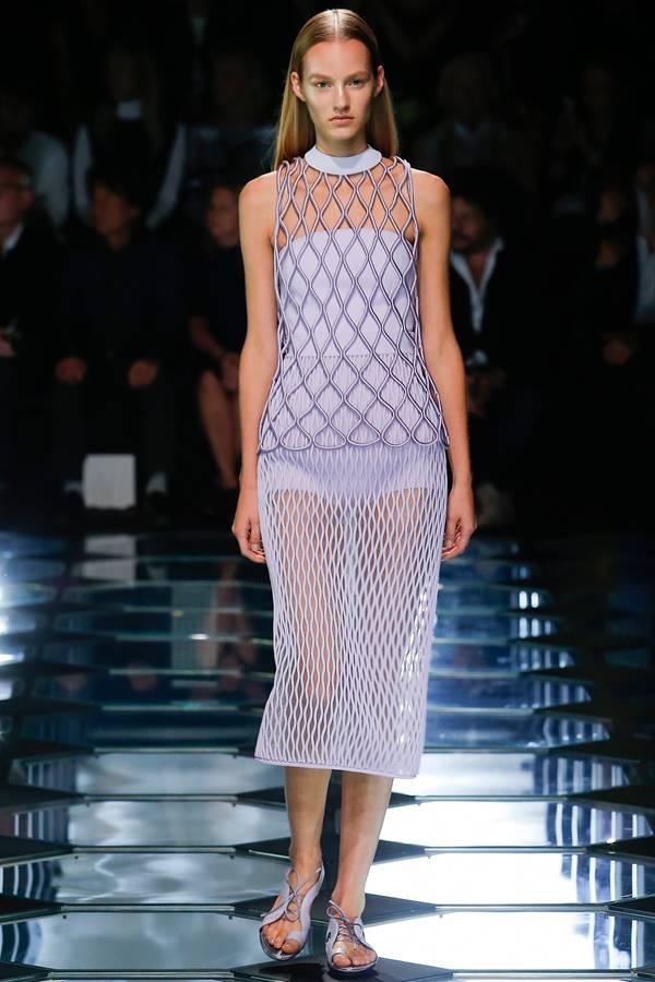сиреневое платье весна-лето 2015 Balenciaga