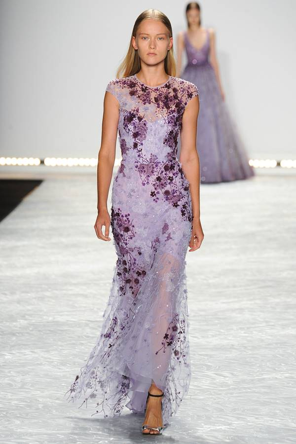 сиреневое платье весна-лето 2015 Monique Lhuillier