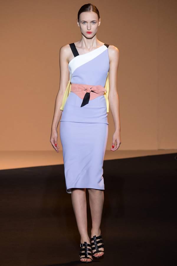 сиреневое платье весна-лето 2015 Roland Mouret