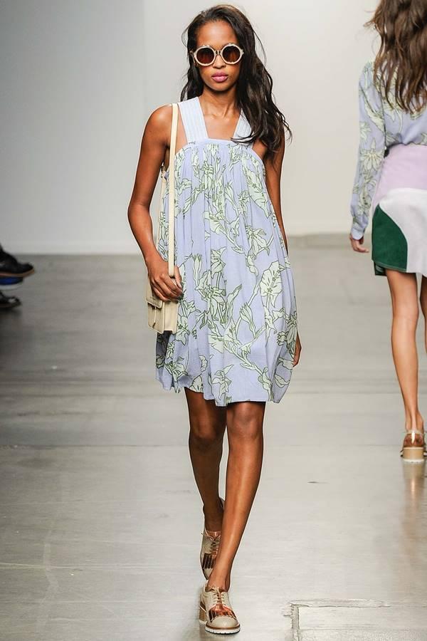 сиреневое платье весна-лето 2015