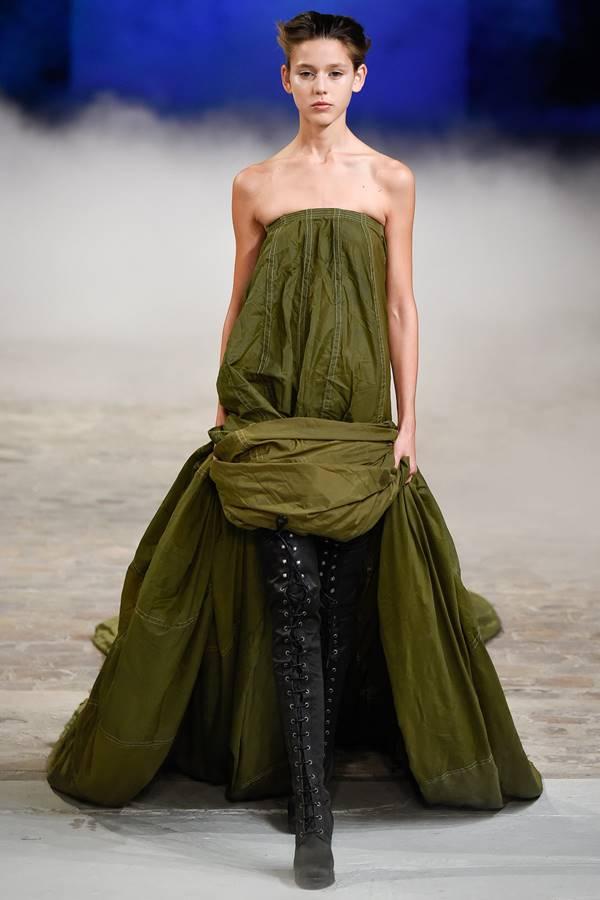 зеленое платье весна-лето 2015 A.F. Vandevorst