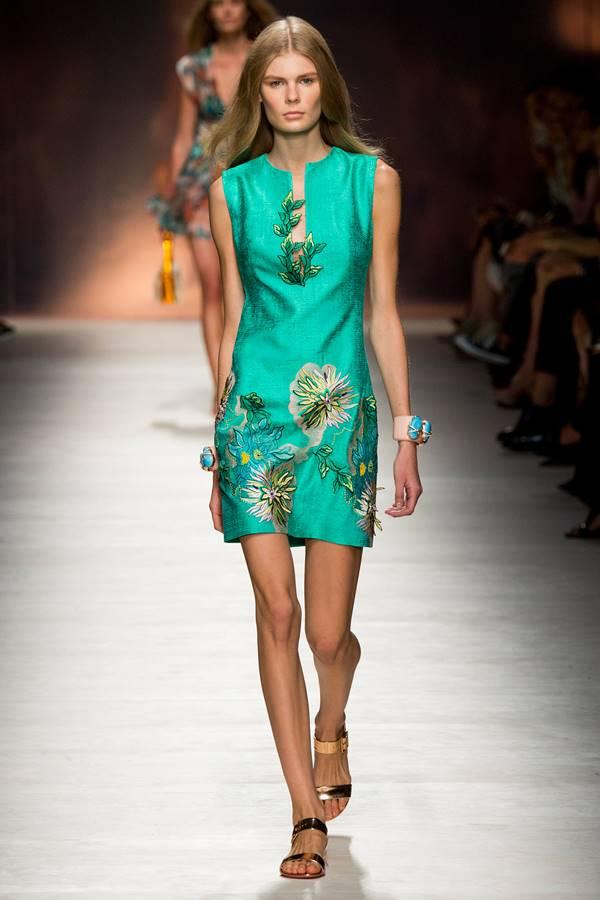 зеленое платье весна-лето 2015 Blumarine