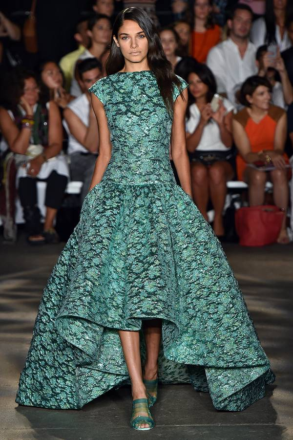 зеленое платье весна-лето 2015 Christian Siriano
