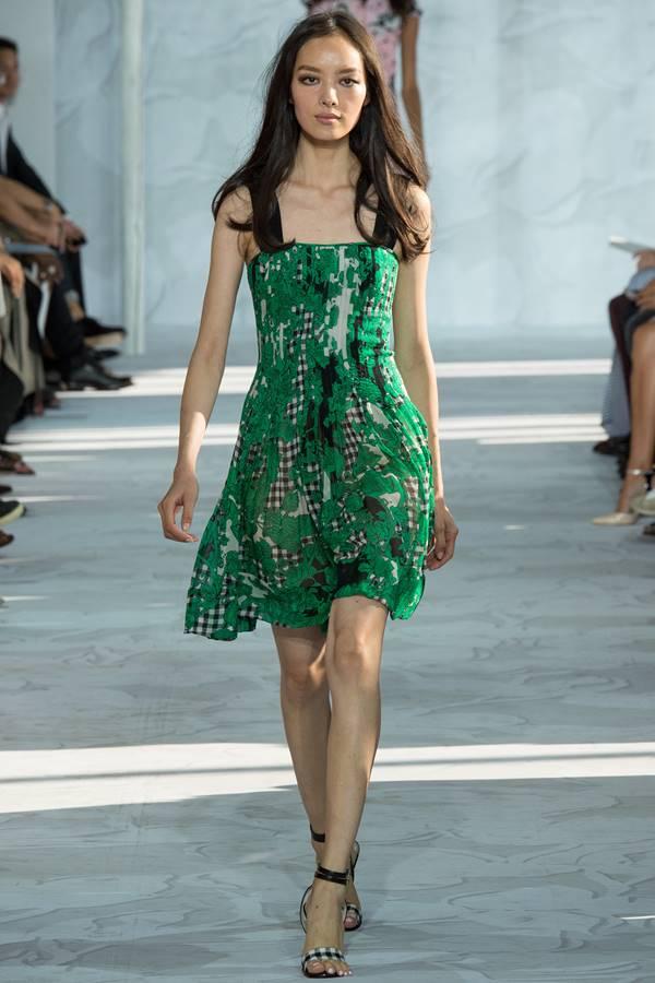 зеленое платье весна-лето 2015 Diane von Furstenberg