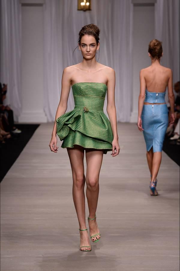 зеленое платье весна-лето 2015 Ermanno_Scervino