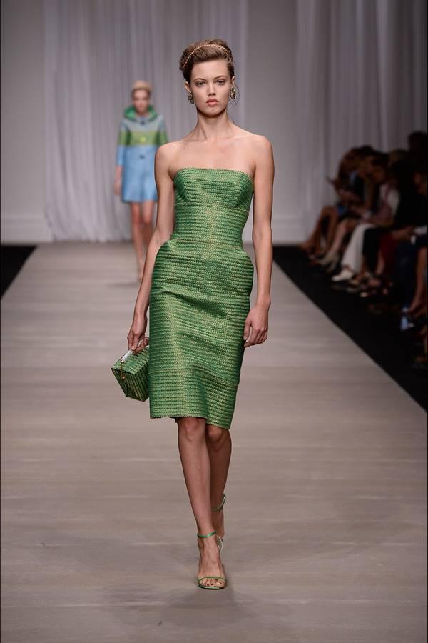 зеленое платье весна-лето 2015 Ermanno Scervino