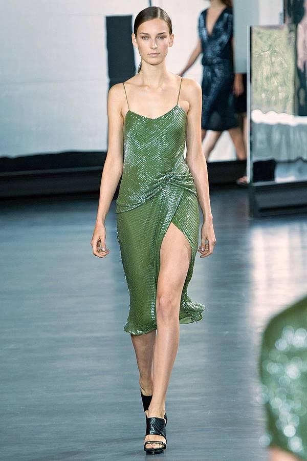 зеленое платье весна-лето 2015 Jason Wu