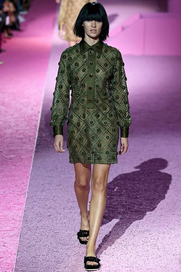 зеленое платье весна-лето 2015 Marc Jacobs