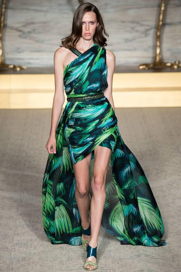 зеленое платье весна-лето 2015 Matthew Williamson