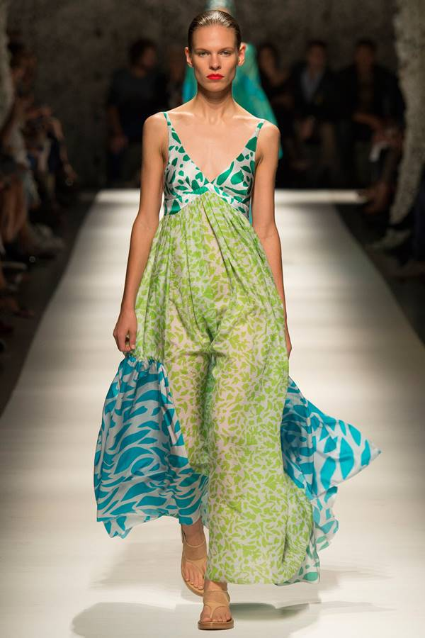 зеленое платье весна-лето 2015 Missoni