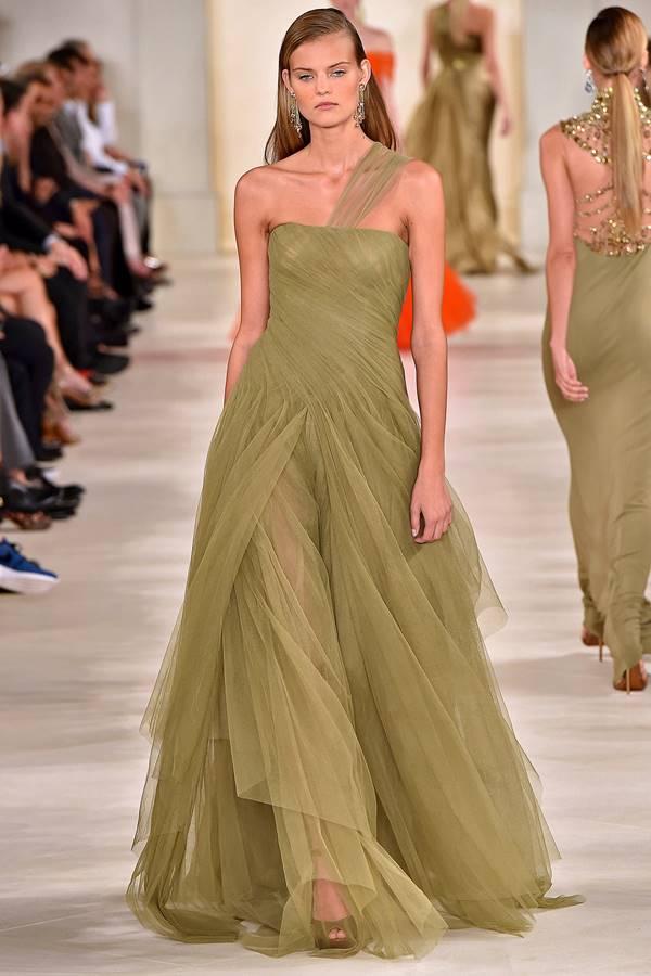 зеленое платье весна-лето 2015 Ralph Lauren
