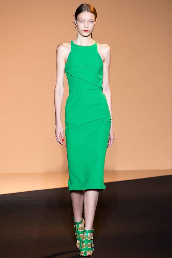 зеленое платье весна-лето 2015 Roland Mouret