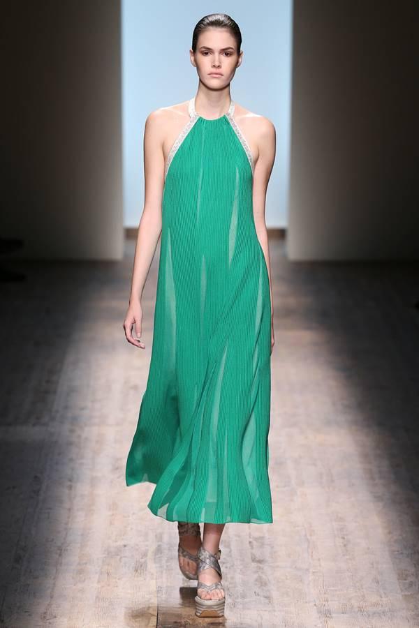 зеленое платье весна-лето 2015 Salvatore Ferragamo