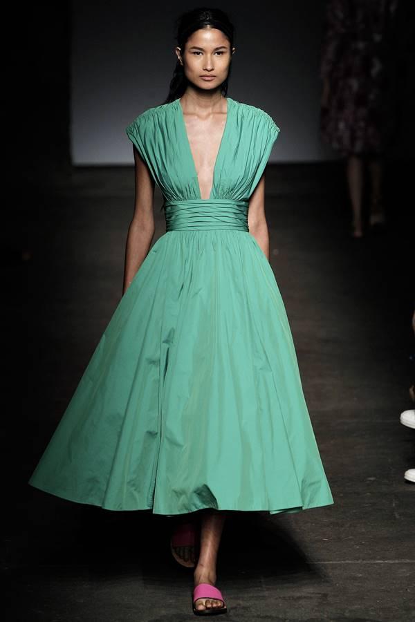 зеленое платье весна-лето 2015 Tracy Reese