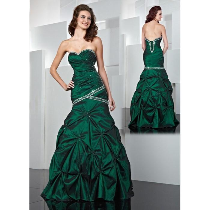 платье принцессы зеленое  на выпускной 2015